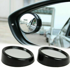 "2x Black Round 2"" Convex Stick On Rear-View Blind Spot Mirrors - Car, Truck, SUV"