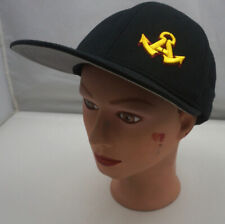 Refuse To Sink Anchor Hat Black Stitched Snapback Baseball Cap Pre-Owned ST210