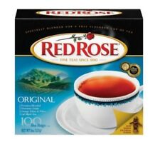 Red Rose Tea Bags Original Premium Mountain Orange Peko Black Tea Bags 100 Ct
