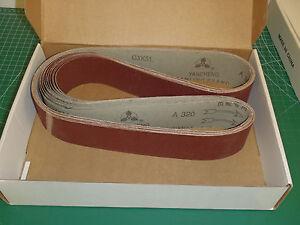 """Abrasive Belt 2-1/2"""" x 60"""" A/O 320 Grit (Lot of 10)"""
