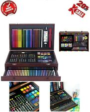Large Drawing Set 142 Piece Pencil Pastel Color Draw Kit Supplies Kid Craft Art