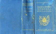 "MANUALE HOEPLI -1924 "" RICETTARIO DOMESTICO ENCICLOPEDIA MODERNA PER LA CASA """