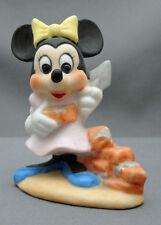 Vtg Minnie Mouse Figurine Walt Disney Productions Porcelain Bisque Free Usa Ship