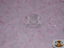 """Organza Floral Dahlia Fabric PINK / 60"""" Wide / Sold by the yard"""