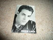 DAVID LAGO signed Original Autogramm 10x15 cm SCHATTEN DER LEIDENSCHAFT