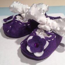 Mary Jane Infant Shoes Purple & White