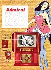 "1952 Admiral PRINT AD Television features 21"" Model Children & Ballerina Dancer"