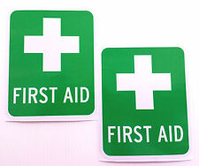 FIRST AID sticker/decal OH&S, weatherproof, UV stable, pack of 2, Workplace, Box