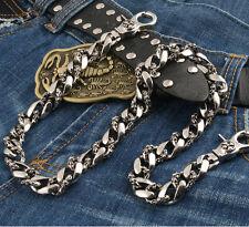 """DK Medieval Symbol Heavy Biker Trucker Key Jean Wallet Chain NCS38 26/"""" Black"""