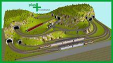 Piko H0 A-Gleis Gleisplan A70 für Anlagenplanung, HO, Set 2,7 x 1,6 m