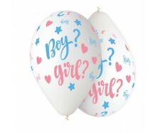 10 PALLONCINI BOY GIRL PER FESTA BABY SHOWER PALLONCINO BALLOONS PARTY SORPRESA