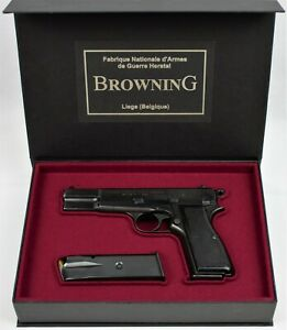 PISTOL GUN PRESENTATION CUSTOM DISPLAY CASE BOX for BROWNING HIGH POWER 2 Type