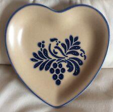 """Pfaltzgraff FOLK ART Heart Shaped Serving Dish 9"""""""