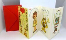 Mint Vintage Unused Granddaughter Paper Doll Other Lands Valentine Card +Envel