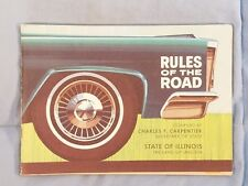 Vintage 1964 Illinois Rules Of The Road Booklet Car Driving Instructions
