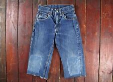 Vintage 50 s 60 s LEVI'S 302-0117 Big E coupe jean short Talon 42 USA Kids W21