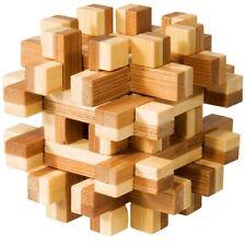 "Bambus-Puzzle ""magic blocks"" IQ-Test Knobelspiel Holz"