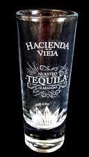 """Tall Shot Glass HACIENDA VIEJA Tequila Shooter 4-1/4"""" Tall Jigger Cissa"""