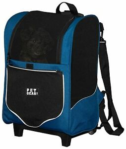 Pet Gear I-GO2 SPORT 5 in 1  Pet Cat Dog Carrier Backpack Car Seat Tote Roller