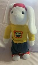 "AVON PRODUCTS plush plastic Singing BUNNY ""COMON EVERY BODY... LET'S GET HOPPED"
