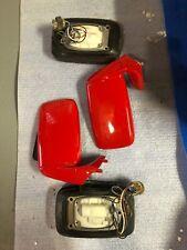 porsche 911 930 carrera mirrors L R PAIR w/glass heated electric PAIR 74-89 RED