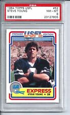 1984 84 Topps USFL Football #52 Steve Young Rookie Card PSA 8