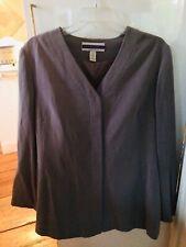 Amanda Smith, Pure Silk, Size 16, Stylish, Gray Women's Jacket