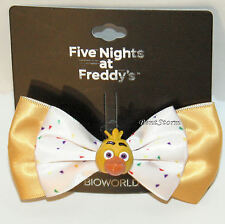 Five Nights At Freddy's Chica Costume Cosplay Hair Bow w/ 3D Yellow Duck Charm