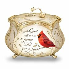 A Messenger From Heaven Cardinal Music Box with 22K Gold Accents by The Bradford
