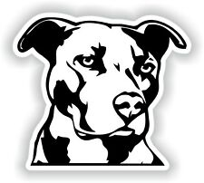 Pit Bull Sticker for Bumper Laptop Luggage Suitcase Tablet Dog #01
