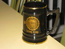 Jersey City Medical Center School of Nursing Black Ceramic Stein Mug 1959 USA