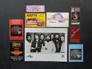 DOOBIE BROTHERS,B/W promo photo,7 Original Backstage passes,1980 ticket