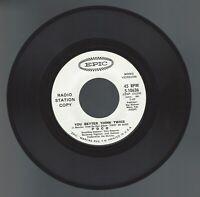 "POCO, DJ Promo 45 ""You Better Think Twice"". Unusual White labels Stereo/Mono"