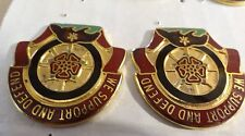 MILITARY INSIGNIA CREST DUI SET OF 2 1461ST TRANSPORTATION COMPANY SUPPORT DEFEN