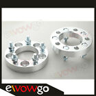 """2PC 25mm 5x114.3 Wheel Spacers 1"""" Inch 5x4.5 Adapters 12x1.5 Studs Billet"""