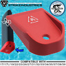 Strike Industries Aluminum Magazine Mag Base Pad for Glock Floor Plate - Red