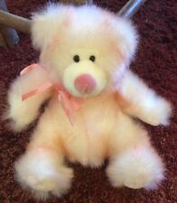 Russ Sparkly White and Pink Bear Named Taffie