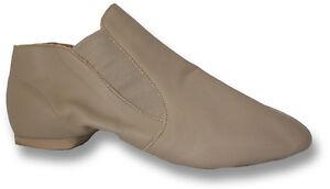 Capezio CG05 Tan Adult Size 9.5W (Fits Size 8.5 to 9) Slip On Jazz Boot