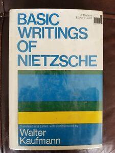 Basic Writings of Nietzsche Hardback book 1968