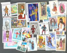 Costumes-Uniforms-Dress on stamps 200 all different collection -