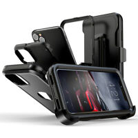 For iPhone 12/11 Pro Max Shockproof Case Hybrid Cover + Holster Belt Clip Stand