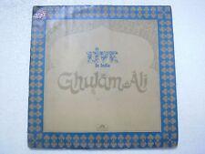GHULAM ALI LIVE IN INDIA  2 LP 1980 RARE LP RECORD vinyl india hindi GHAZAL EX