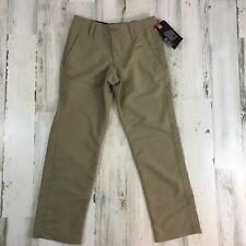 Under Armour Boys Khaki Golf Dress Pants Sz 8