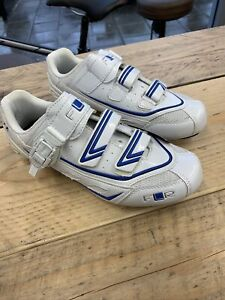 Road Racing Shoes Size 40 White And Blue