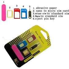 5 IN 1 Nano SIM Card to Micro Adaptor Converter Standard Adapter Set for iPhone