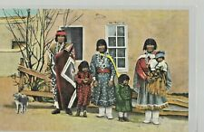 Four Vintage Native American Postcards'Indian Mother Proud of Her Baby', 'Apache