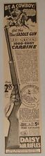 1940 Daisy bb gun air rifle ad ~ RED RYDER SADDLE GUN BE A COWBOY!