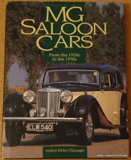 MG SALOON CARS - 1920s to 1970s - Anders Ditlev Clausager - 1998 hardback book