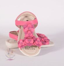 See Kai Run Girls Leather Pink Floral Decals Sandals Sz 8T US / 24 EU $55
