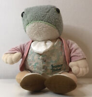 """Large 11"""" Wind in The Willows Character - Jeremy Fisher Frog Plush Soft Toy,"""
